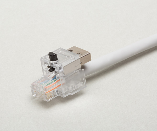 Zabezpieczenie przed wypięciem kabla LAN RJ45