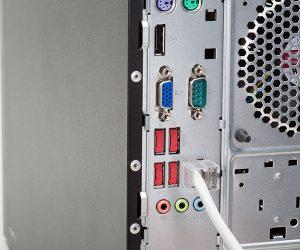 Jednostka centralna z zabezpieczonymi portami USB
